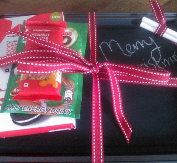 Homemade Christmas Gifts #4 – Chalkboard Tray