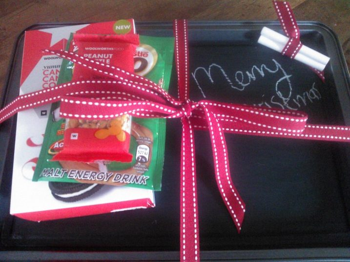 Homemade Christmas Gifts #4 – Chalkboard Tray