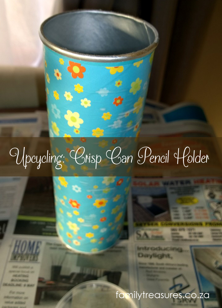 Upcycling: Crisp Can Pencil / Pen Holder