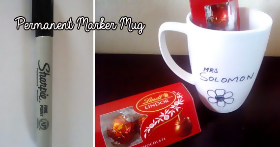 Homemade Christmas Gifts #6 – Permanent Pen Mug