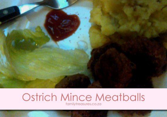 Winter Left-Overs Comfort Food Recipe 3: Ostrich Mince Meatballs