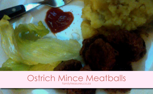 Winter Left-Overs Comfort Food Recipe 3: Ostrich Mince Meatballs