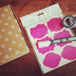 Let's Get Crafting: Washi Tape and Chalkboard Stickers