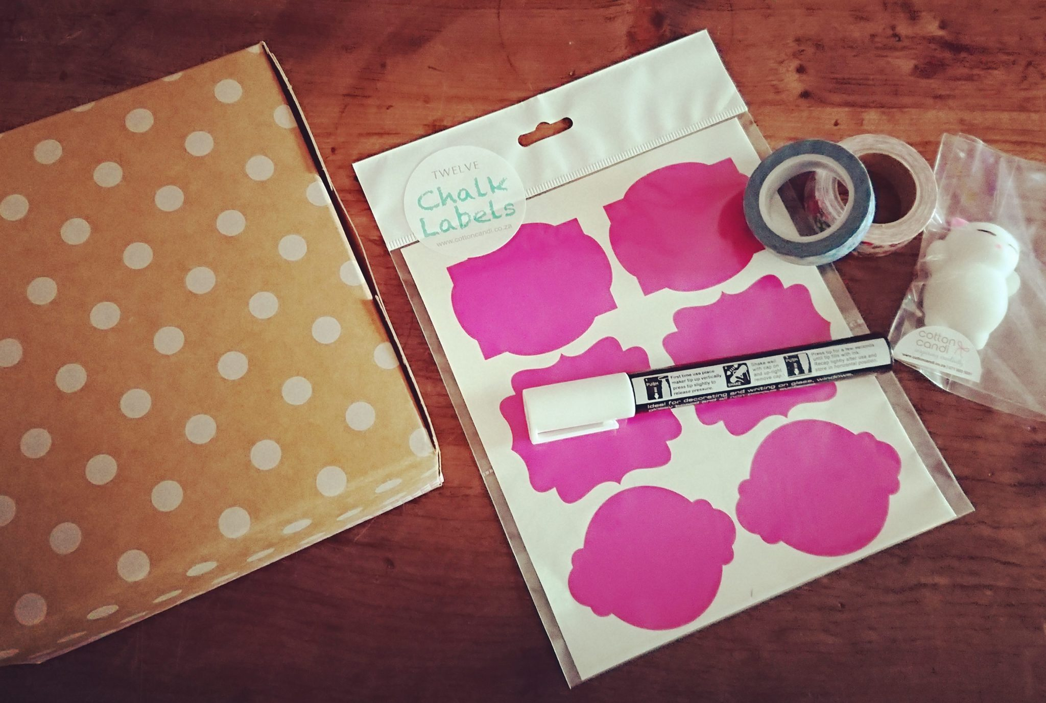 Week 29: Let's Get Crafting: Washi Tape and Chalkboard Stickers